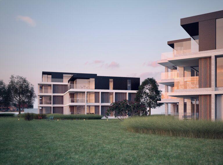 Kasteelvijver Langemark nieuwbouwproject by Karolien Lafaut